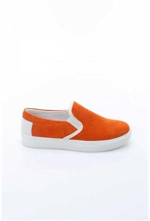 Shoes&Moda Turuncu Kadın Hakiki Deri Ayakkabı 509-1016-1800060