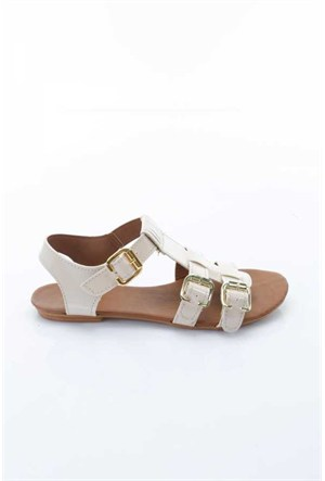 Shoes&Moda Pudra Rugan Kadın Sandalet 509-1016-1401İ02