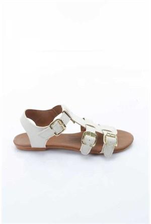 Shoes&Moda Bej Cilt Kadın Sandalet 509-1016-1401976