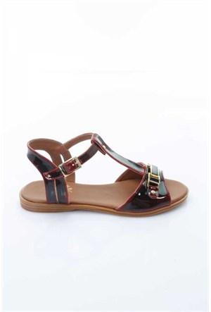 Shoes&Moda Bordo Rugan Kadın Sandalet 509-1016-1400H29