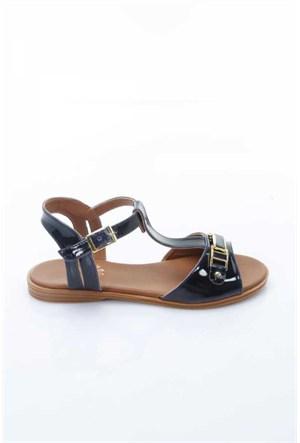 Shoes&Moda Lacivert Rugan Kadın Sandalet 509-1016-1400157