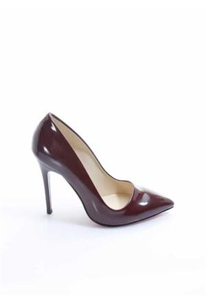 Shoes&Moda Bordo Rugan Kadın Stiletto Ayakkabı 509-6-Nz078h29