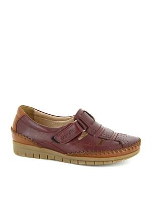 Forelli Bordo Deri Comfort Ayakkabı 340714200