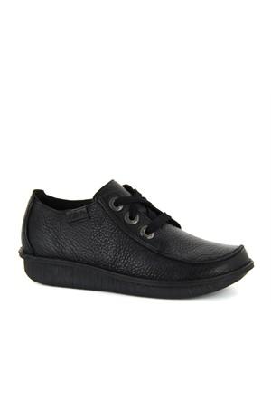 Clarks Siyah Deri Günlük Ayakkabı 060101200