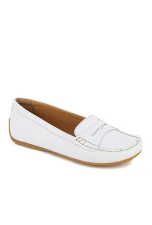 Clarks Beyaz Deri Loafer 26117224