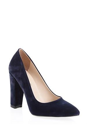 Derigo Lacivert Süet Kadın Ayakkabı 2818182