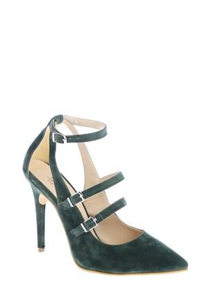 Derigo Kadın Topuklu Ayakkabı Yeşil