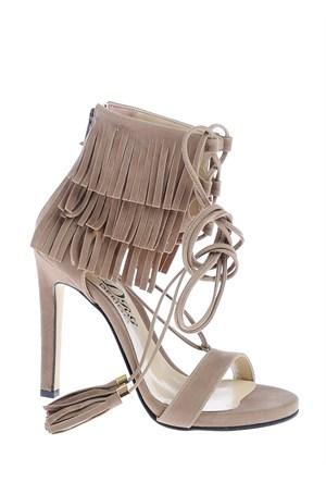 Derigo Kadın Klasik Topuklu Ayakkabı Vizon