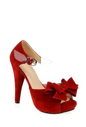 Derigo Kadın Abiye Ayakkabı Kırmızı