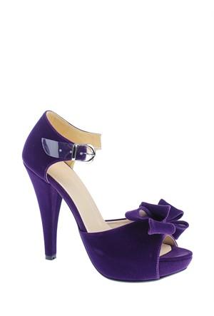 Derigo Kadın Abiye Ayakkabı Mor
