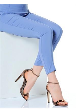 Derigo Kadın Klasik Topuklu Ayakkabı Platin