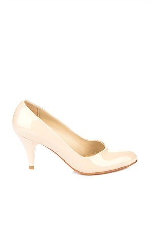 Pembe Potin Helena Karamel Rugan Ayakkabı