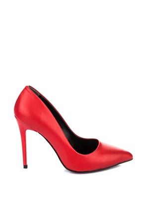 Pembe Potin İvana Kırmızı Ayakkabı
