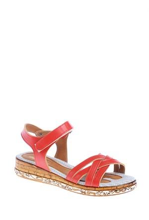 Derigo Kadın Sandalet Kırmızı