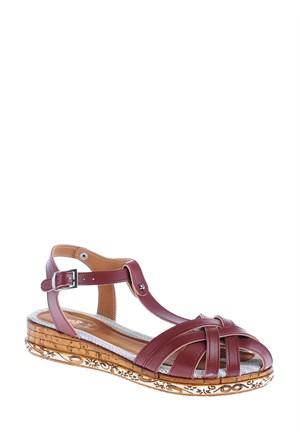 Derigo Kadın Sandalet Bordo