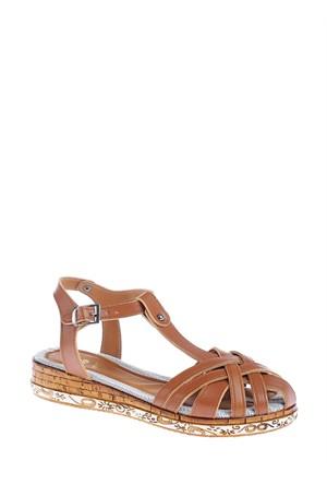Derigo Kadın Sandalet Taba