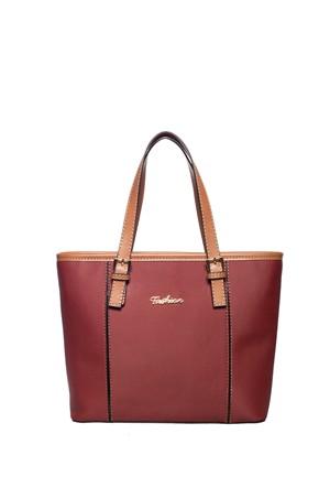 Fashion Bags Omuz Çantası Bordo - Taba SG8634-BORDO TABA