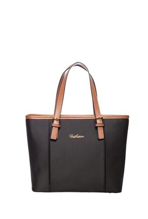 Fashion Bags Omuz Çantası Siyah - Taba SG8634-SİYAH TABA