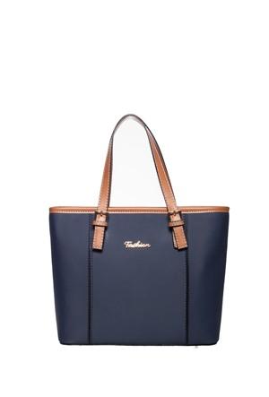 Fashion Bags Omuz Çantası Lacivert - Taba SG8634-LACİ TABA