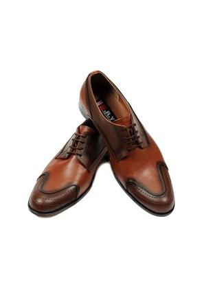 Taba Renkli Erkek Ayakkabısı + Kemer + Gözlük + Cüzdan