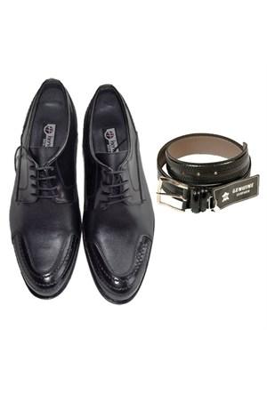 Siyah Klasik Erkek Ayakkabısı + Kemer