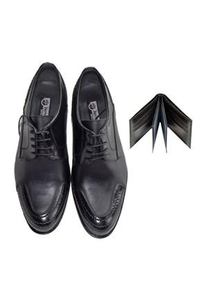 Siyah Klasik Erkek Ayakkabısı + Cüzdan
