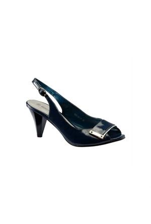 Escarpine Tokalı Lacivert Bayan Ayakkabısı