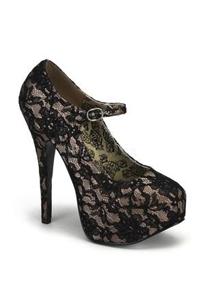 Pleaser Dantelli Topuklu Ayakkabı