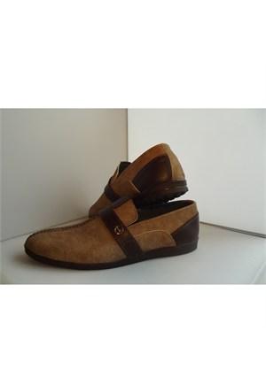 Kot Yüzeyli Kahverengi Erkek Ayakkabısı