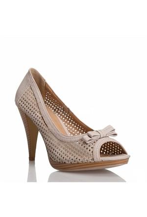 Escarpine Fileli Bayan Ayakkabısı