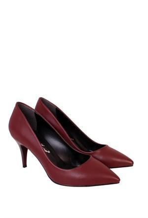 Mina Moor Ayakkabı Bordo Klasik Kadın Ayakkabı - 11905