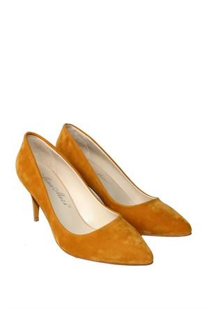 Mina Moor Ayakkabı Hardal Süet Klasik Kadın Ayakkabı - 11905
