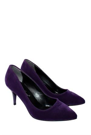 Mina Moor Ayakkabı Mor Süet Klasik Kadın Ayakkabı - 11905