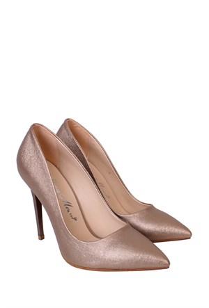 Mina Moor Ayakkabı Altın Klasik Kadın Ayakkabı - 1770