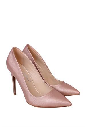 Mina Moor Ayakkabı Pudra Klasik Kadın Ayakkabı - 1770