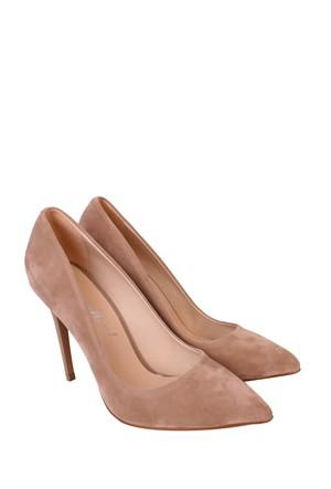 Mina Moor Ayakkabı Ten Süet Klasik Kadın Ayakkabı - 1770