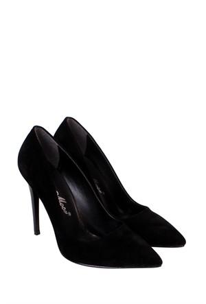 Mina Moor Ayakkabı Siyah Süet Klasik Kadın Ayakkabı - 1770
