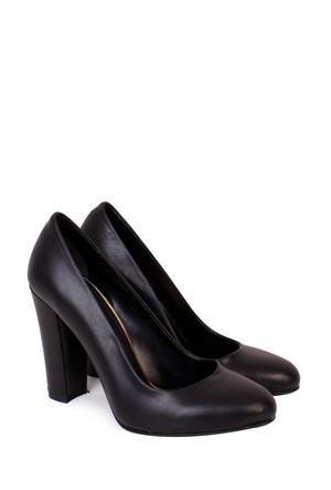 Park Moda Siyah Klasik Topuklu Kadın Ayakkkabı - 500