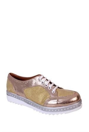 Format Shoes Altın Spor Simli Zenne Ayakkabı - 8005