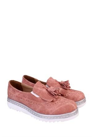 Format Shoes Pudra Kot Corcik Zenne Ayakkabı - 8000