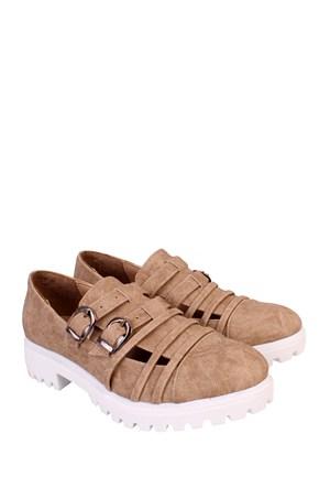 Format Shoes Vizon Kot Günlük Kadın Ayakkabı - 2150