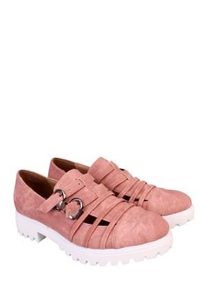 Format Shoes Pudra Kot Günlük Kadın Ayakkabı - 2150