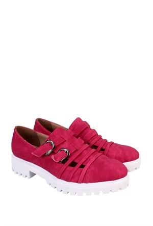 Format Shoes Fuşya Kot Günlük Kadın Ayakkabı - 2150