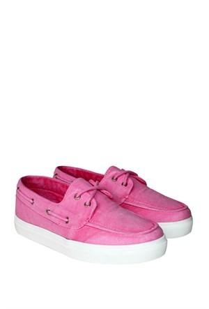 Dosteli Ayakkabı Pembe Spery Kadın Keten Ayakkabı - 140