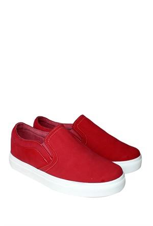 Dosteli Ayakkabı Kırmızı Nbn Kadın Keten Ayakkabı - Yamaha