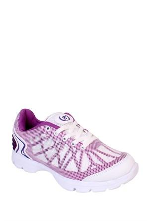 Kaya Dericilik Beyaz - Mor Kadın Spor Ayakkabı - 455