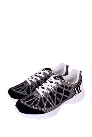 Kaya Dericilik Siyah - Beyaz Kadın Spor Ayakkabı - 455