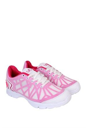 Kaya Dericilik Beyaz - Fuşya Kadın Spor Ayakkabı - 455