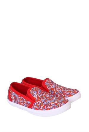 Altınbaş Ayakkabı Çiçekli5 Kız Çocuk Filet Keten Ayakkabı - 18403