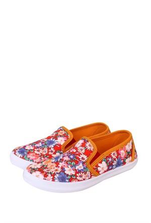 Altınbaş Ayakkabı Çiçekli2 Kız Çocuk Filet Keten Ayakkabı - 18403